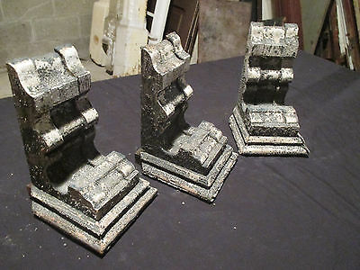 ~ Set 3 Ornate Victorian Antique Corbels ~ 9 Tall ~ Architectural Salvage Lot 2