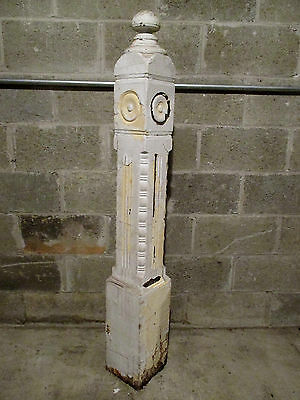 ~ Ornate Antique Walnut Newel Post ~  55 Inch ~ Architectural Salvage ~