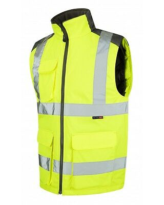 Leo Workwear Torrington BW01 Hi Vis Yellow Body Warmer Class 2 Snickers Direct