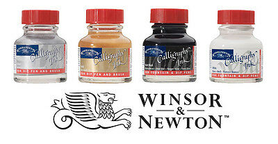 Winsor & Newton Calligraphy Ink 30ml Bottle I Gold, Silver, Black or White