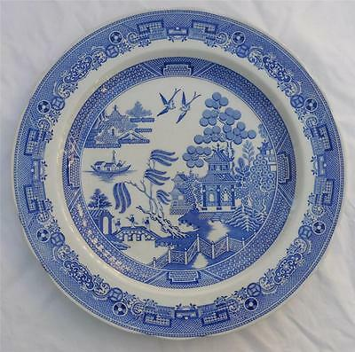 """SPODE BLUE ROOM COLLECTION 10 1/2"""" Willow Dinner Plate EUC"""