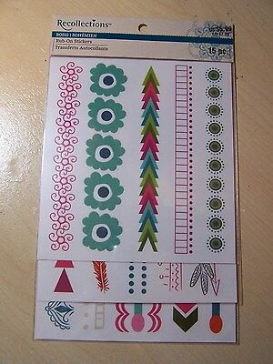 Recollections - Rub On Stickers - Boho / Bohemien - Patterns - 3 Sheets