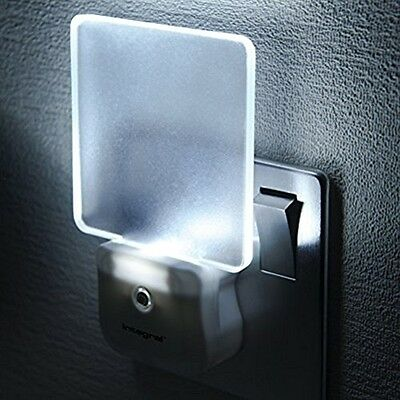 Home Bedroom Hallway Auto Sensor Low Energy LED Night Light Lights UK Plug In