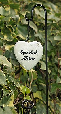Memorial Heart Special Mum Wind Chime With Stick Grave Side Ornament 46cm