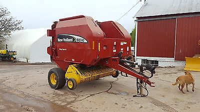 2005 New Holland BR740 Hay Baler Silage Special Net Wap Bale Command Xtra Sweep