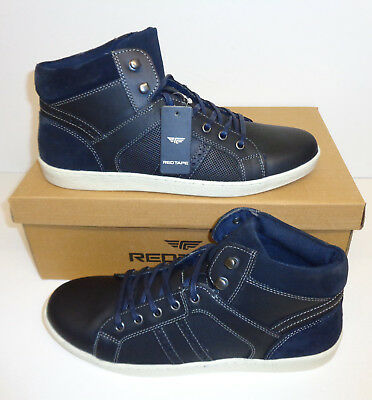 RRP £75 Men's Navy Real Suede Leather Formal Dealer Slip On Boots Sizes 8 9 10