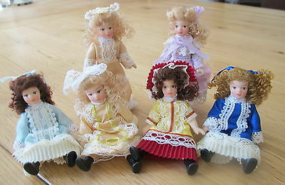 Dolls House Miniature 1:12th Scale Posable Porcelain Victorian Doll