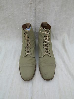 Vtg Grenson Boots Vtg Footmaster Boots Grenson Linen Covered Leather Boots