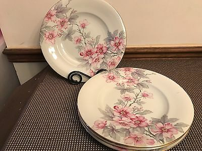 "Norleans Meito ""PINK RADIANCE"" ~ Set of 4 ~ Dinner Plates ~ 10 1/2"""