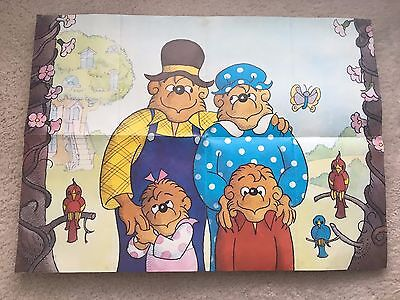 Berestain Bears Poster Vintage Rare 24x17in - Library - Kids' Room - Literature