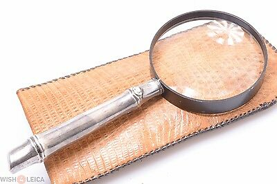 Hollow Silver Handle 8X Folding Magnifier, Loupe, Magnifying Glass