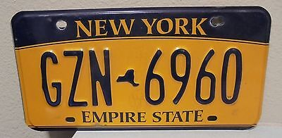 2012 New York  Empire State Gold License Plate Gzn 6960 Used