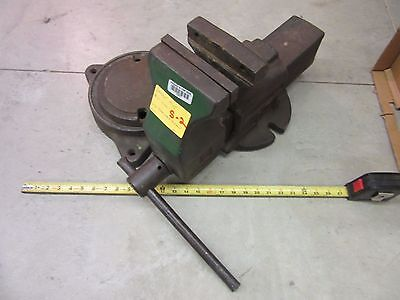Anchor Bench Vise 1945 #6 Clamp Shop Garage Metal Wood Military Heavy Duty Used