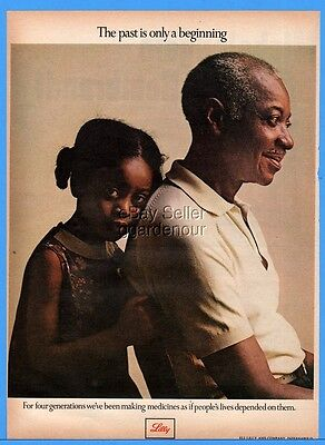 1973 Eli Lilly Pharmaceutical Indianapolis Black African American Man Child Ad