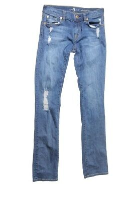 7 For All Mankind Girl's Blue Straight Leg Jeans Size 12