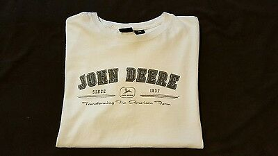 JOHN DEERE 100% Cotton T-Shirt  - sz L Adult