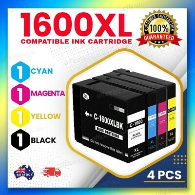 4x Compatible PGI1600XL Ink Cartridges for Canon MB-2060 MB-2360 with chip