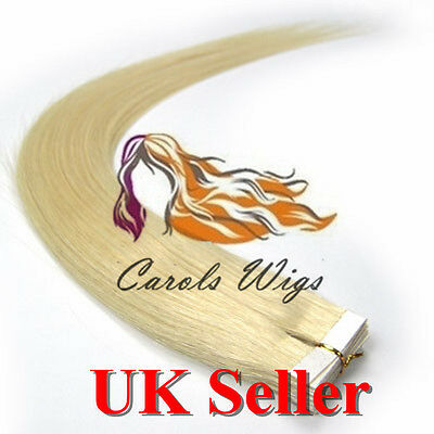 7A Best Quality 16'' Tape-In 100% Russian Remy Human Hair Extensions UK 1st