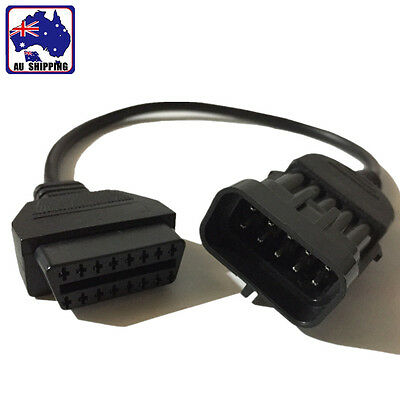 10 Pin to 16 Pin OBD2 Cable Connector Diagnostic Adapter Opel Vauxhall EUSB53916