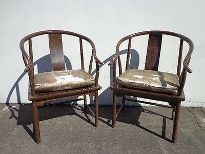 Pair of Chairs Ming James Mont Style Ming Chinese Chippendale Regency Armchair