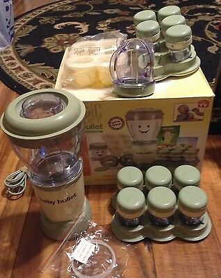 Magic Bullet Baby Bullet Care System blender + Freezer Tray+extras