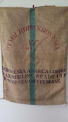 Hessian Sack Recycled Coffee Bag Indonesian Jute / Burlap  Strong and Large