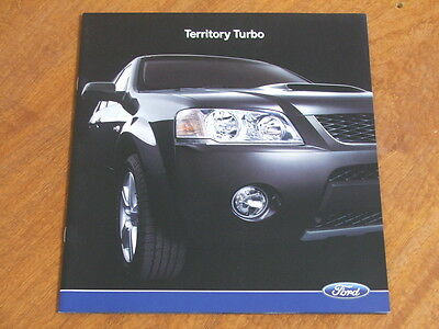 2006 Ford Territory Turbo original large format Australian 26 page brochure