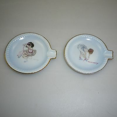Two Brownie Downing 1950's Ballerina Ash Tray Dishes.