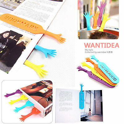 4Pcs Fun Help Me Bookmarks Pad Note Stationery Novelty Book Mark Interesting FO