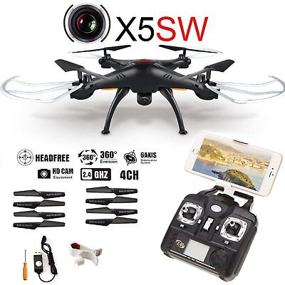 RC Quadcopter Drone 6-Axis W/ HD FPV Wifi Camera Helicopter Headless X5SW-1 Dron