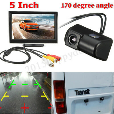 "WATERPROOF 5"" Monitor & CCD Rear View Reverse Camera For Ford Transit Connect UK"