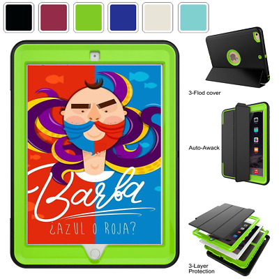 Heavy Duty Shockproof Smart Magnetic Hard Case Cover For Ipad 2 3 4 Air&mini&pro