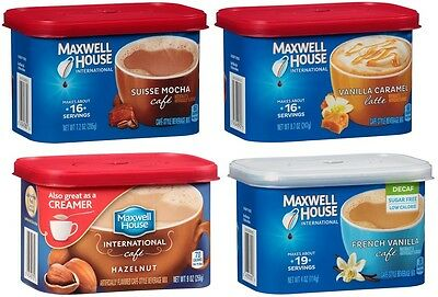 Maxwell House International Cafe Beverage Mix Flavor FREE WORLDWIDE SHIPPING