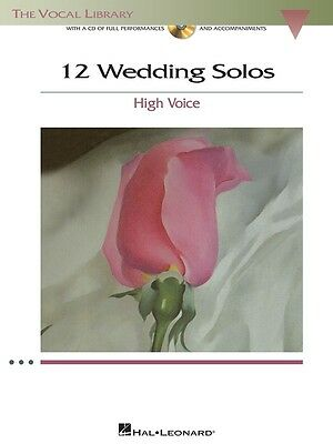 12 Wedding Solos for High Voice - Vocal Music Book with CD