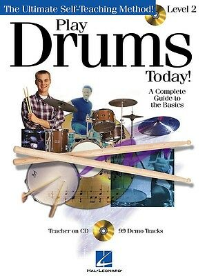 Play Drums Today! - Level 2 - Drum Music Book with CD