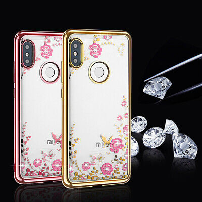 Luxury Clear Crystal Diamond Soft TPU Silicone Case For Xiaomi Note 5 6 Pro 4 4X