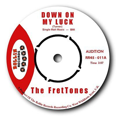"THE FRETTONES - ""DOWN ON MY LUCK"" b/w ""POOR LITTLE BABY"" ROCKABILLY TWIN SPIN"