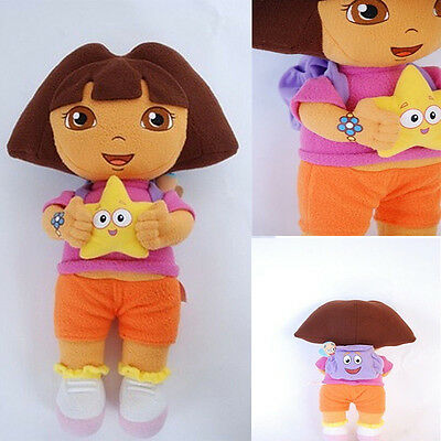 DORA THE EXPLORER Kids Girls Soft Cuddly Stuffed Plush Toy Doll Toys FREE POST W