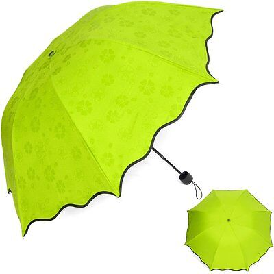 kilofly Anti-UV Folding Parasol Secret Blossom Water Magic Umbrella, UPF 40+,