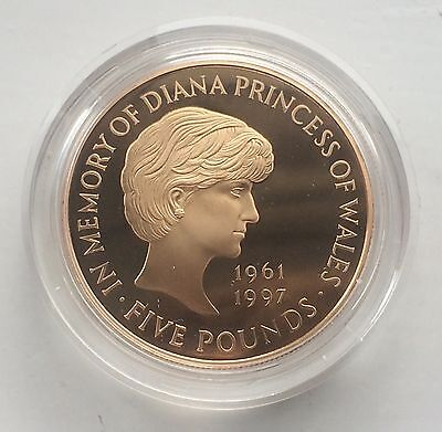 1999 Royal Mint Princess Diana Gold Proof Five Pounds £5 Crown VERY RARE
