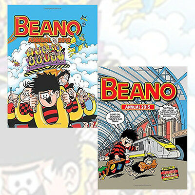 Beano Annual 2016 and 2015 2 Books Collection By DC Thomson Co Ltd, NEW Pack