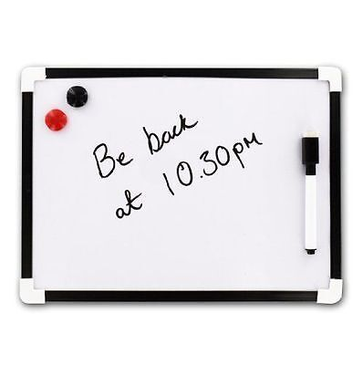 A4 Magnetic Whiteboard Dry Wipe Mini Office Notice Memo White Board Kitchen Deaf
