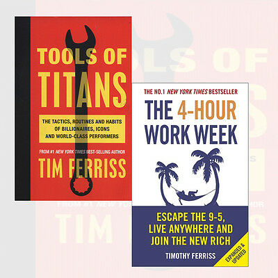 Tools of Titan,The 4-Hour Work Week Collection 2 Books Set By Timothy FerrissNEW