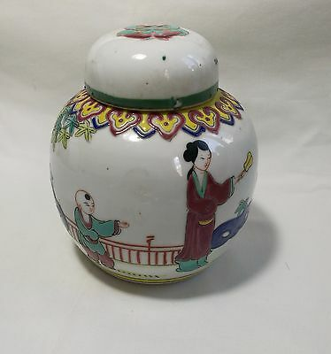 Antique Vintage 1940-1950S Chinese porcelain Jinger jag H12cm Stamped