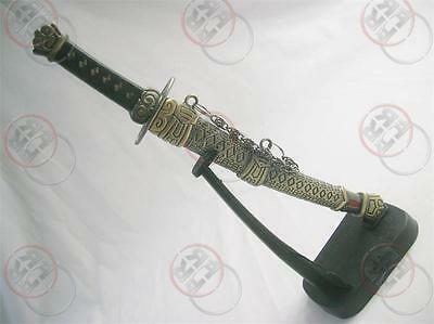 New Japanese Samurai Mini Sword Dagger w/ Desk Stand