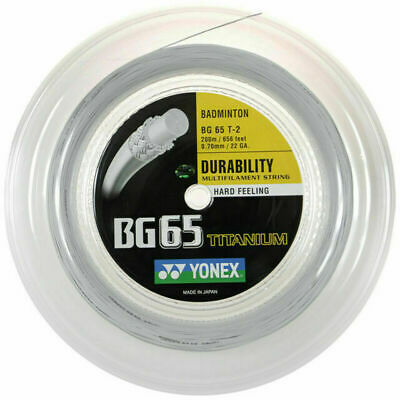 Genuine Yonex BG65Ti Badminton String BG 65 Ti - 200m Reel - White