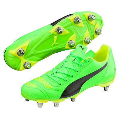 Puma evoPOWER 4.2 H8 SG Green Black Rugby Boots Size UK 7 9 10 11 12