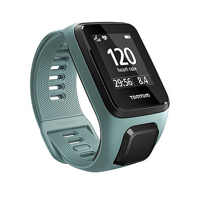 TomTom Spark 3 HRM Cardio GPS Fitness Sports Watch & Activity Tracker Aqua Small