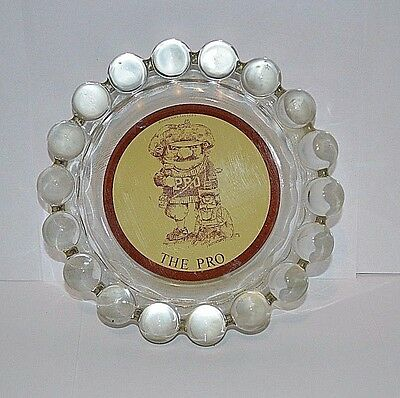 Vintage gary Patterson advertisement memorabilia ashtray ball knobs tobacco
