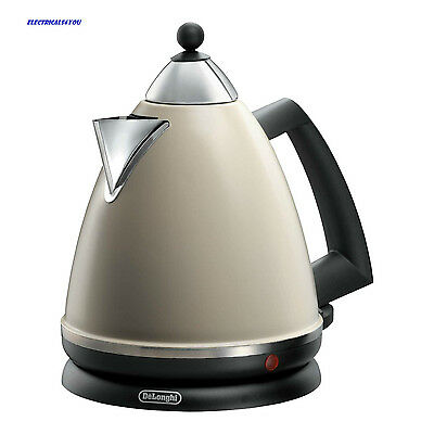 Delonghi Classic Kbe30142 Cordless Kettle, 1.7Ltr, Cream (N)